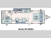 Floorplan - 2011 Forest River RV Surveyor Sport SP-280BH