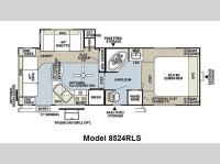 Floorplan - 2011 Forest River RV Flagstaff Classic Super Lite 8524RLS