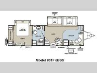 Floorplan - 2011 Forest River RV Flagstaff Classic Super Lite 831FKBSS