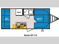 Floorplan - 2011 Forest River RV R Pod RP-173