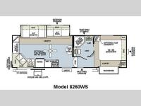 Floorplan - 2011 Forest River RV Rockwood Signature Ultra Lite 8260WS