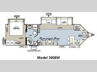 Floorplan - 2011 Forest River RV Rockwood Wind Jammer 3008W