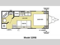 Floorplan - 2011 Forest River RV Salem Cruise Lite 22RB