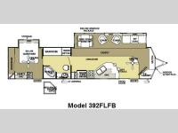 Floorplan - 2011 Forest River RV Salem Villa Estate 392FLFB