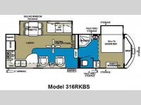 Floorplan - 2011 Forest River RV Wildwood Heritage Glen 316RKBS