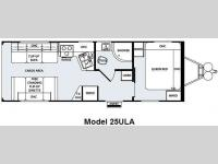 Floorplan - 2011 Forest River RV Work and Play Ultra Lite 25ULA