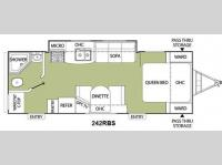 Floorplan - 2011 Coachmen RV Freedom Express 242RBS