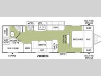 Floorplan - 2011 Coachmen RV Freedom Express 290BHS