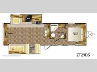 Floorplan - 2011 CrossRoads RV Zinger ZT29DS
