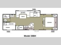 Floorplan - 2011 Forest River RV Cherokee Grey Wolf 28BH
