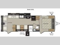 Floorplan - 2011 Keystone RV Passport 285RL