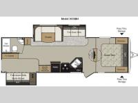 Floorplan - 2011 Keystone RV Passport 3050BH Grand Touring