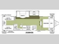 Floorplan - 2011 Coachmen RV Freedom Express 292BHDS