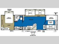 Floorplan - 2010 Forest River RV Wildwood 36BHBS