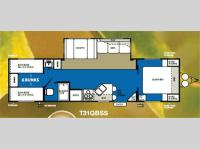 Floorplan - 2011 Forest River RV Wildwood 31QBSS