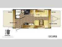 Floorplan - 2011 CrossRoads RV Sunset Trail SX19RB