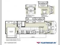 Floorplan - 2011 Fleetwood RV Southwind 32VS