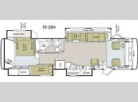 Floorplan - 2011 Tiffin Motorhomes Allegro 35 QBA