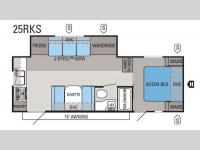 Floorplan - 2011 Jayco Jay Flight G2 25RKS