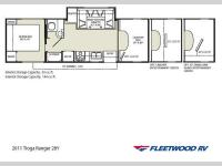 Floorplan - 2011 Fleetwood RV Tioga Ranger 28Y