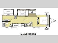 Floorplan - 2010 Forest River RV Salem 29BHBS