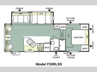 Floorplan - 2011 Forest River RV Salem 25RLSS