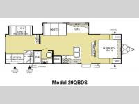 Floorplan - 2011 Forest River RV Salem 29QBDS