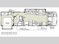 Floorplan - 2011 Fleetwood RV Terra 34DS