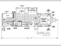 Floorplan - 2011 EverGreen RV Ever-Lite 34BHK-DS