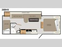 Floorplan - 2011 Coachmen RV Apex 26 BHS