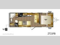 Floorplan - 2011 CrossRoads RV Zinger ZT23FB