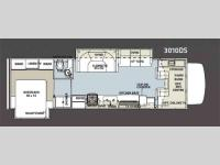 Floorplan - 2011 Forest River RV Sunseeker 3010DS