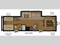 Floorplan - 2011 Keystone RV Sprinter 308BHS