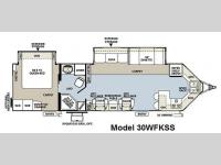Floorplan - 2011 Forest River RV Flagstaff V-Lite 30WFKSS
