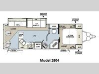 Floorplan - 2011 Forest River RV Rockwood Ultra Lite 2604