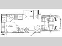 Floorplan - 2011 Leisure Travel Unity U24CB