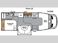 Floorplan - 2011 Coachmen RV Prism 2100CB LE