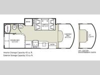Floorplan - 2011 Fleetwood RV Tioga DSL 24D