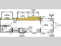 Floorplan - 2006 Forest River RV Wildwood LE 30BHBS LE