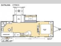 Floorplan - 2011 Coachmen RV Catalina 27FBCK