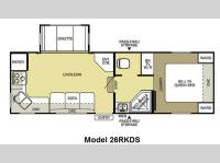 Floorplan - 2011 Forest River RV Salem 26RKDS