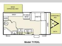Floorplan - 2011 Forest River RV Salem Cruise Lite 17EXL