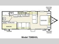 Floorplan - 2011 Forest River RV Salem Cruise Lite 26BHXL