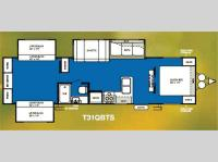 Floorplan - 2011 Forest River RV Wildwood 31QBTS
