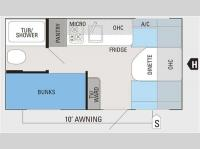 Floorplan - 2011 Jayco Jay Flight Swift SLX 154BH
