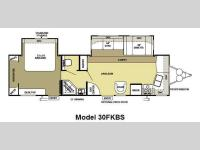 Floorplan - 2012 Forest River RV Salem 30FKBS