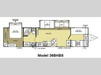 Floorplan - 2012 Forest River RV Salem 36BHBS