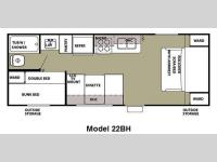 Floorplan - 2012 Forest River RV Cherokee Grey Wolf 22BH