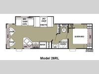 Floorplan - 2012 Forest River RV Cherokee Grey Wolf 26RL