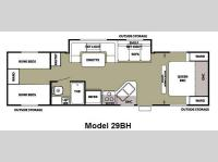 Floorplan - 2012 Forest River RV Cherokee Grey Wolf 29BH